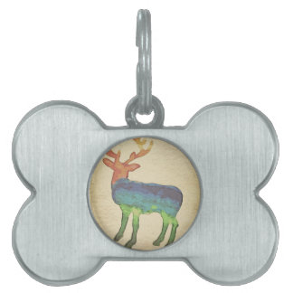 Grunge Stag Pet Tag