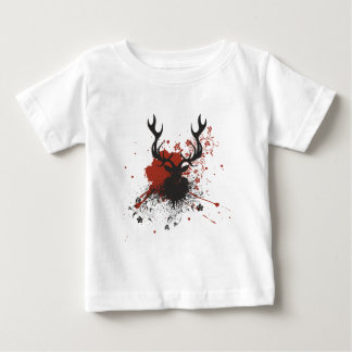 Grunge Stag with Floral Tee Shirt