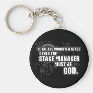 Grunge Stage Manager God Basic Round Button Key Ring