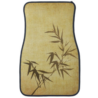 Grunge Stained Bamboo Paper Background Car Mat