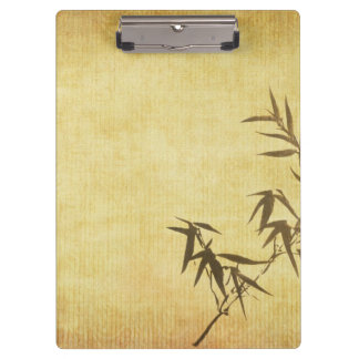 Grunge Stained Bamboo Paper Background Clipboard
