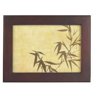 Grunge Stained Bamboo Paper Background Keepsake Box