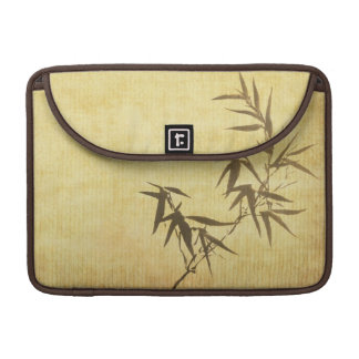 Grunge Stained Bamboo Paper Background Sleeve For MacBooks