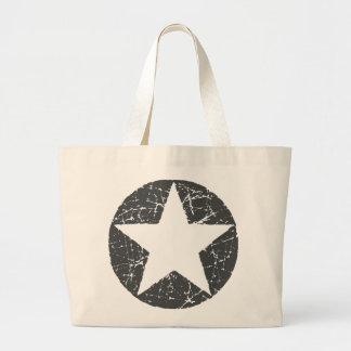 GRUNGE STAR CANVAS BAG