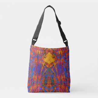 Grunge star pattern crossbody bag