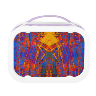 Grunge star pattern lunch box