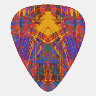 Grunge star pattern plectrum