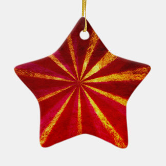 Grunge starburst christmas ornament