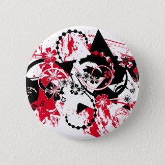 grunge stars 6 cm round badge