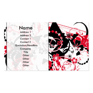 grunge stars business card template