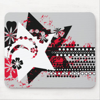 grunge stars mouse pad