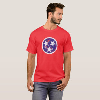 Grunge State Flag Of Tennessee Stickers T-Shirt