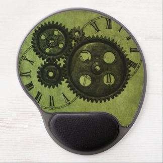 Grunge Steampunk Clocks and Gears Gel Mouse Pad