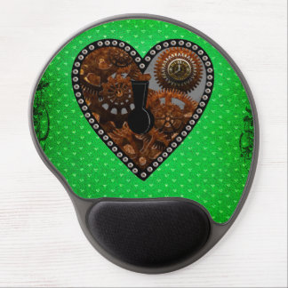 Grunge Steampunk Clocks and Gears Key Gel Mouse Pad