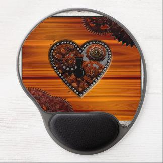 Grunge Steampunk Clocks and Gears Key Heart Box Gel Mouse Pad