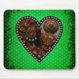 Grunge Steampunk Clocks and Gears Key Mouse Pad