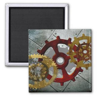 Grunge Steampunk Clocks and Gears Magnet