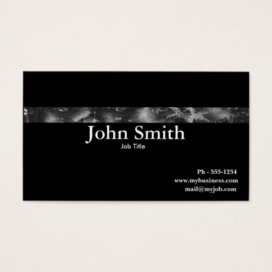 Grunge Steel  business card
