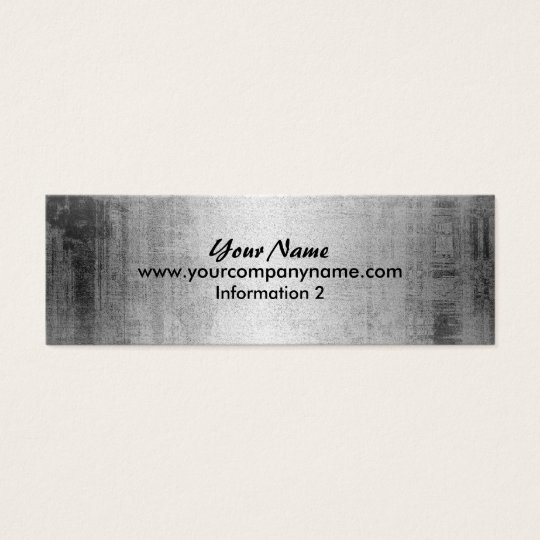 Grunge Steel Metal Look Business Cards