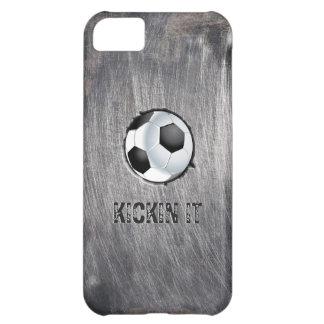 Grunge Steel Soccer Ball Kickin' it iPhone 5C Case