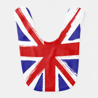 Grunge Style British Union Jack Flag Bib