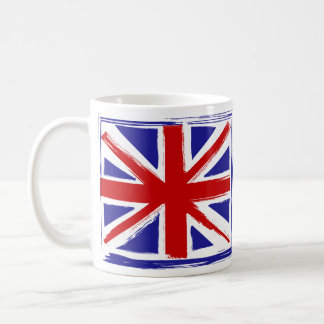 Grunge Style British Union Jack Flag Coffee Mug