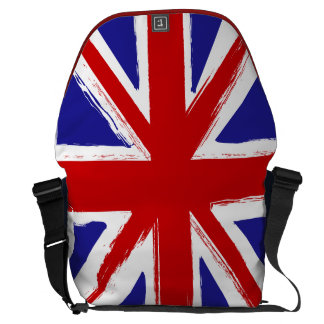 Grunge Style British Union Jack Flag Commuter Bag