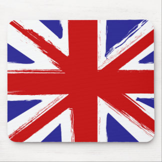 Grunge Style British Union Jack Flag Mouse Mat