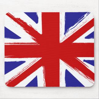 Grunge Style British Union Jack Flag Mouse Pad