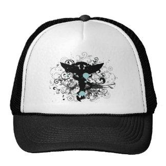 Grunge Style Chiropractic Trucker Hat