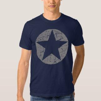 Grunge Style Circle Star Tee Shirts
