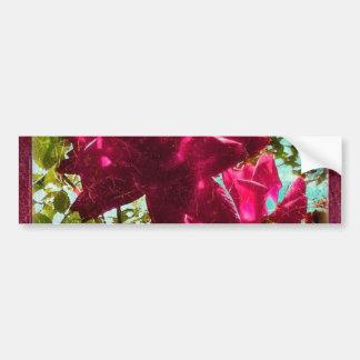 Grunge Style Floral Composition Bumper Sticker