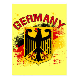 Grunge Style Germany Coat of Arms and Flag Postcard
