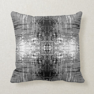 Grunge Style, Gray Abstract. Throw Pillow