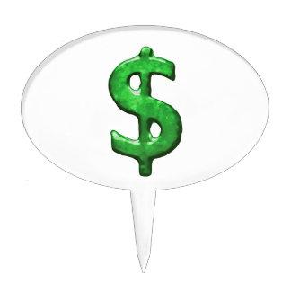 Grunge Style Money Sign Symbol Illustration Cake Pick