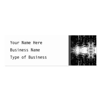 Grunge Style Monochrome Abstract. Pack Of Skinny Business Cards