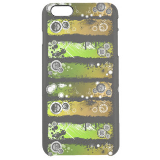 Grunge Style Music Banner Clear iPhone 6 Plus Case