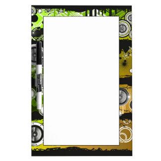 Grunge Style Music Banner Dry Erase Board
