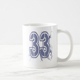 GRUNGE STYLE NUMBER 33 CLASSIC WHITE COFFEE MUG