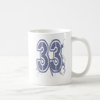 GRUNGE STYLE NUMBER 33 COFFEE MUG