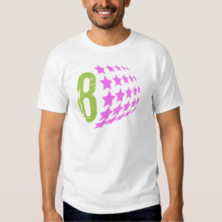GRUNGE STYLE NUMBER 8 AND PINK STARS TSHIRTS