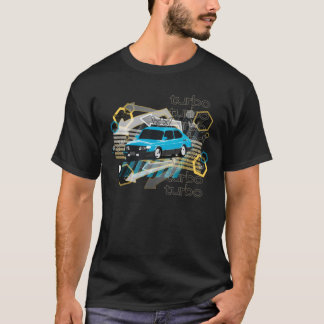 grunge style Saab 900 SPG turbo in Swedish colors T-Shirt