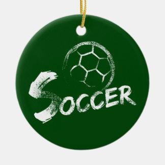 Grunge Style Soccer Design Christmas Ornament
