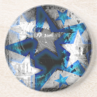 Grunge Style Stars Coaster