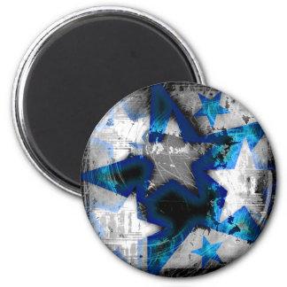Grunge Style Stars Fridge Magnet