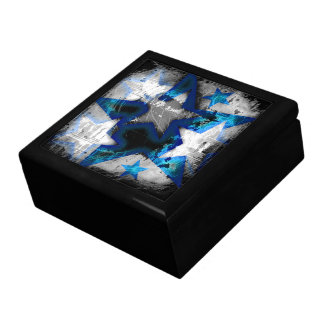 Grunge Style Stars Keepsake Box