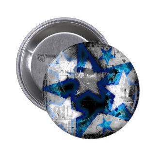 Grunge Style Stars Pinback Button