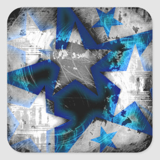 Grunge Style Stars Sticker