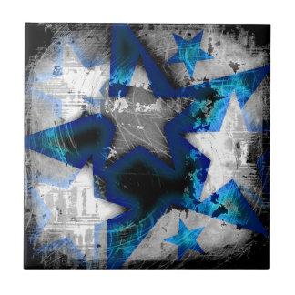 Grunge Style Stars Tiles