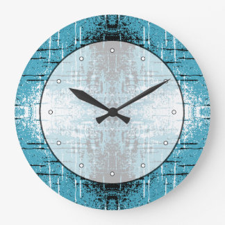 Grunge Style Teal Abstract. Wallclock